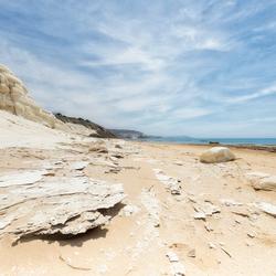 Krijtrotsen op Sicilië