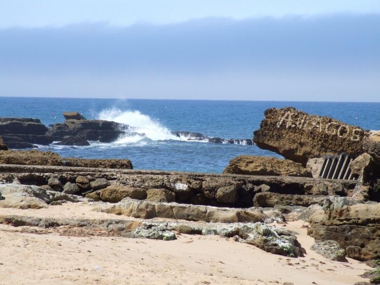 Golfen spel - Aan de kust van Portugal hadden de golfen vrijspel, prachtig