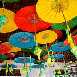 Colorful design at Taman Indie