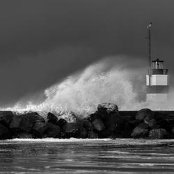 Storm IJmuiden aan Zee