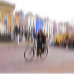 The girl on the bike ...