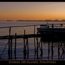 100 Islands, Hotelroom view sunrise