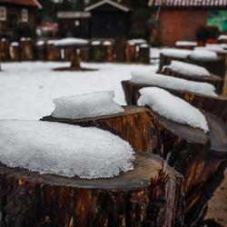 Langzaam smelt de sneeuw