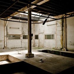 Chromerij in verlaten oude fabriek