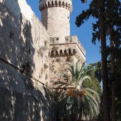 Toren in Rhodos oude stad Griekenland