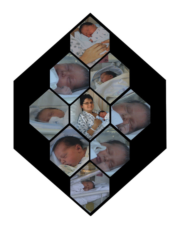 Mozaïk - Een mozaïk van foto&#039;s van mijn jongste dochter.<br /> Ik vond alle foto&#039;s leuk, en kon geen keuze maken. Op deze manier toch een m