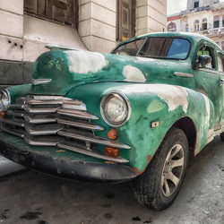 The green Chevrolet