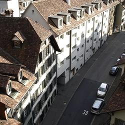 Kijk op/in een van de straten van Bern