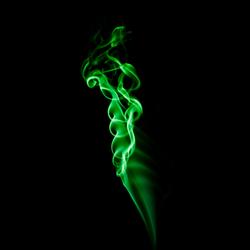 Green smoke waves
