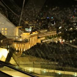 Berlijn, Brandenburger Tor vanuit de Reichstag