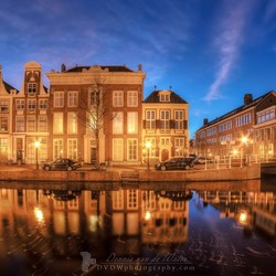 Blue hour Rapenburg Leiden