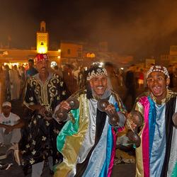 Muzikanten op het el Fna