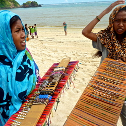 Op het strand van Lombok