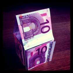 Huisje van geld