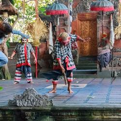 Barong dans in Batubulan op Bali