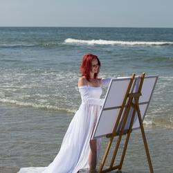 Schilderen in de zee