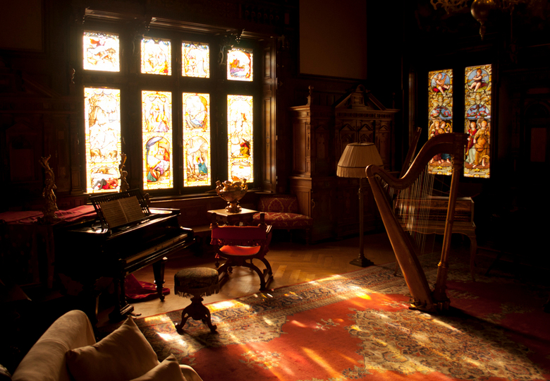 Muziekkamer Castelul Peleș Roemenië - Op onze wintertrip in Roemenië een bezoek gebracht aan dit mooie, vrij jonge, kasteel.