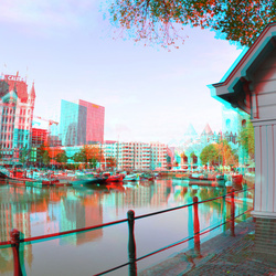 Oude-Haven Rotterdam 3D Fish-eye 8mm