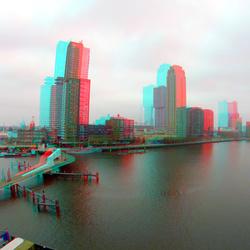 View from Fenixlofts Katendrecht Rotterdam 3D