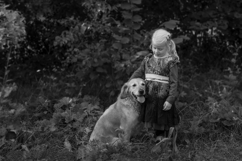 Kind en hond - Mijn hond<br /> Je bent mijn beste vriend<br /> Nu en altijd..