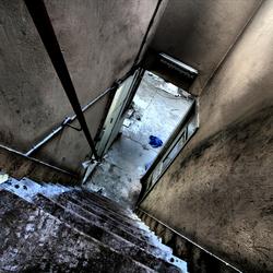 tilted stairway