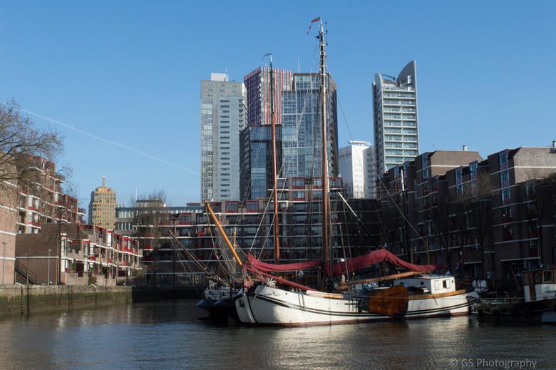 Boat in the city -