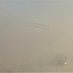 Waal in de mist