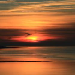 Zonsondergang aan het Wad