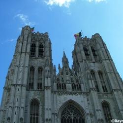De kathedraal van Sint Michiel en Sint Goedele