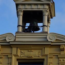 detail van de kloktoren kasteel Nienoord