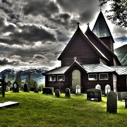 Staafkerk Roldal Noorwegen