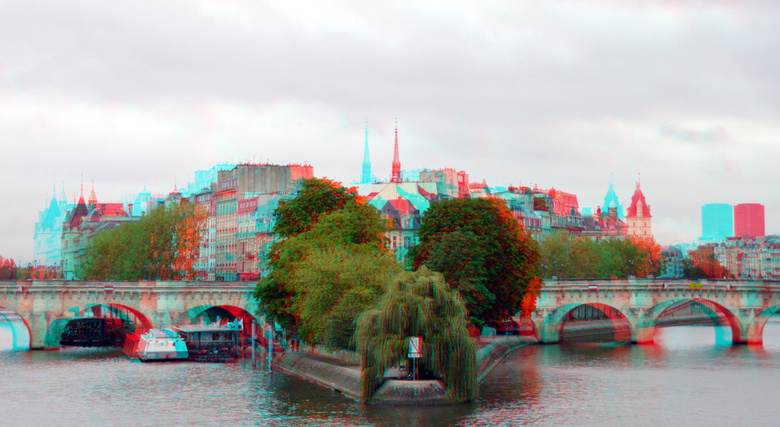 Paris 3D anaglyph - Paris 3D anaglyph