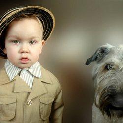 jongen met hond