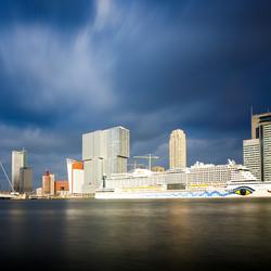 Rotterdam voor zonsondergang