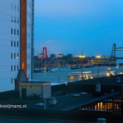 Uitzicht vanuit hotel Bruno in Rotterdam
