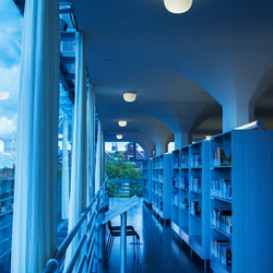 Interieur bibliotheek