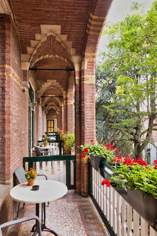 IMG_5355  - Balkon van het Fletcher Gilde Hotel in Deventer