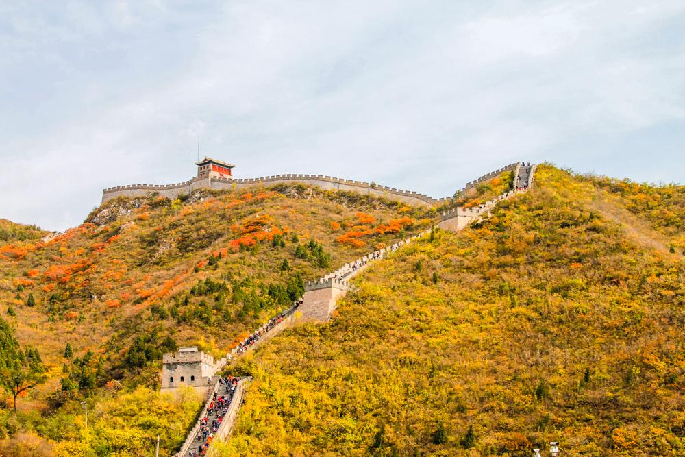 Chinese muur in herfst