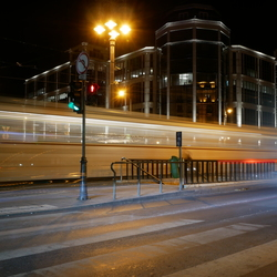 Tram in de nacht, Boedapest