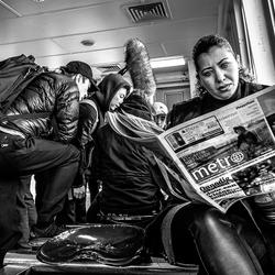 Metro op de pont