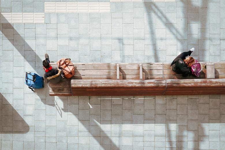 Social Distancing (2020) - '#socialdistancing' (2020) is vastgelegd op station Zwolle, net na de bekendmaking van de maatregelen rondom coro