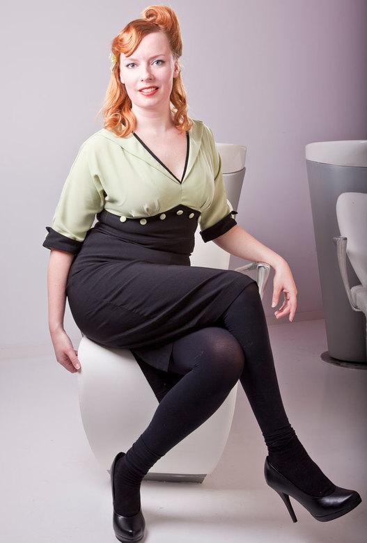 Foto van Pin-up workshop. Model Eva - Foto&#039;s gemaakt tijdens de workshop &quot;Pin-up style&quot; georganiseerd<br /> door notorious clothing.