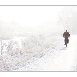 eenzame man in de kou!