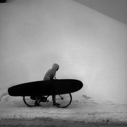 Surfen in de sneeuw
