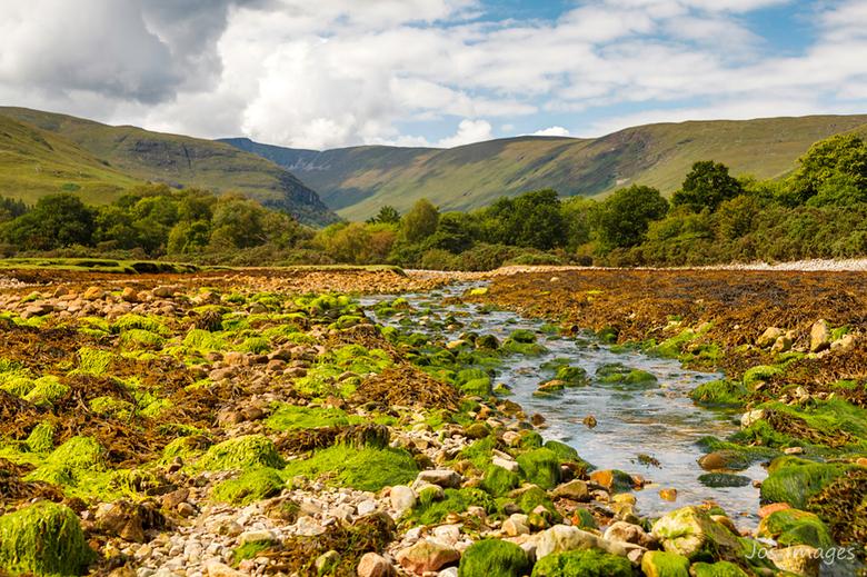 Abhain Sròn a' Chreagain - Tijdens onze vakantie in Schotland is het me meerdere malen opgevallen hoe mooi groen het is en hoeveel verschillende kleur