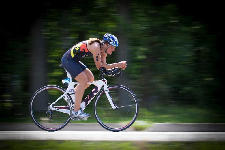 Speed - Deelneemster aan EK triatlonwedstrijd in Weert, 1 juni 2019