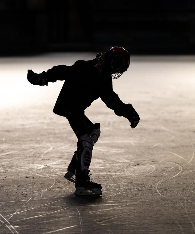 Early morning skate - Vroeg in de ochtend op het ijs om te oefenen.