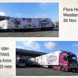 collage Flora Holland 30 nov 2018 Mercedes Actros  LZV 25,25 meter - kopie