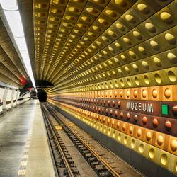 Metrostation Muzeum, Praag, Tsjechië
