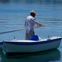 Michalos In His Row-Boat